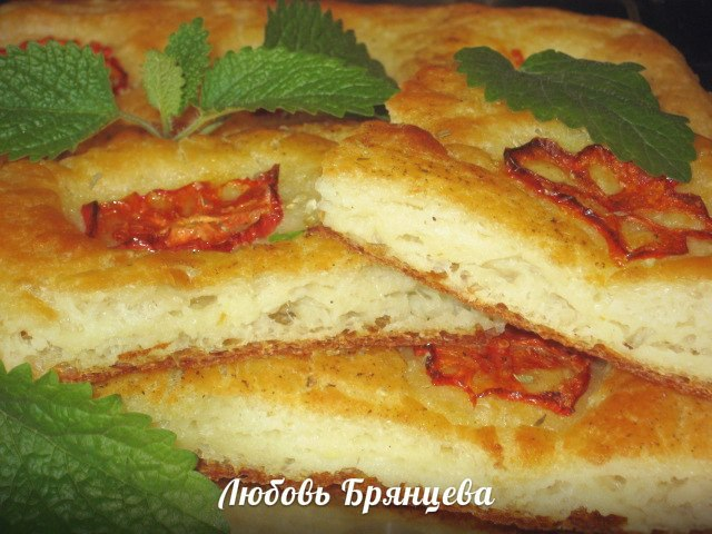 хлеб фокачча рецепт с фото