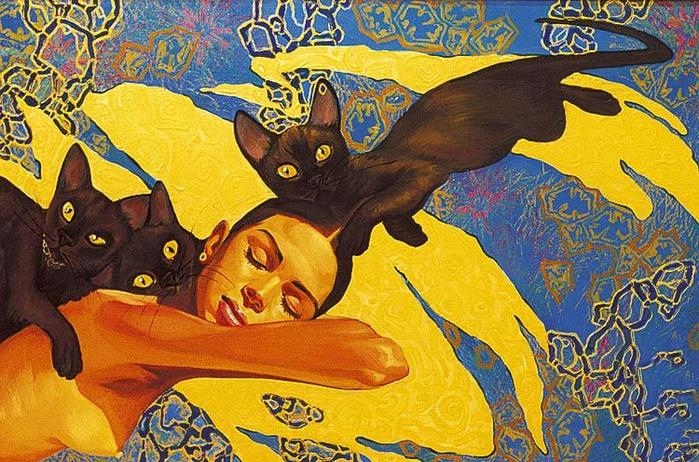 Fattah Hallah Abdel 1970 | Symbolist painter | Touching Egypt