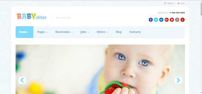 Babysitter best theme for Job boarding website
