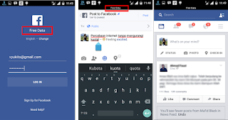 Tips Cara Gratis Facebookan Tanpa MemotongKuota Internet