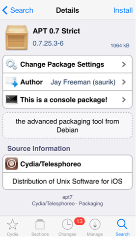 APT 0.7 Strict Cydia Tweak
