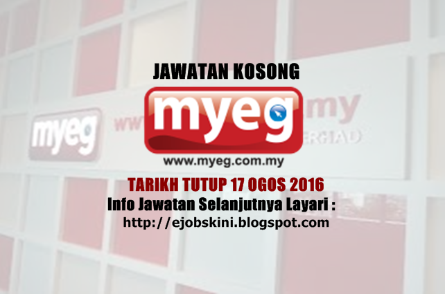 Jawatan Kosong Terkini di MyEG Services Berhad