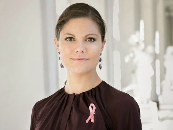 Crown Princess Victoria of Sweden is the patron of Cancer's Pink Ribbon campaign in 2013