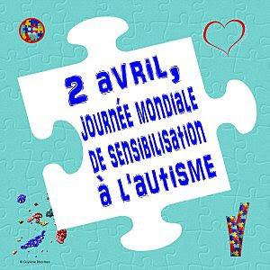 2 avril Journée Mondiale de sensibilisation à l'autisme