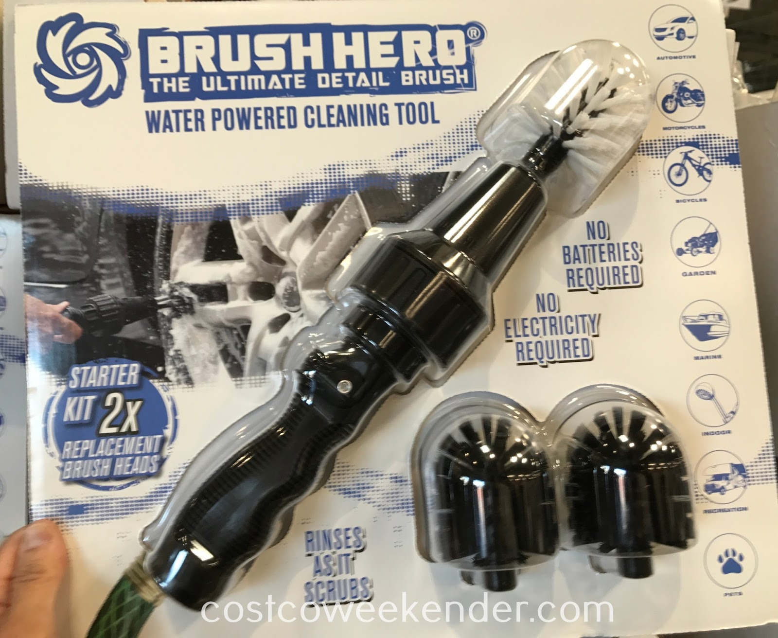 Make cleaning your car easier and faster with the Brush Hero Water Powered Wheel Cleaning Tool