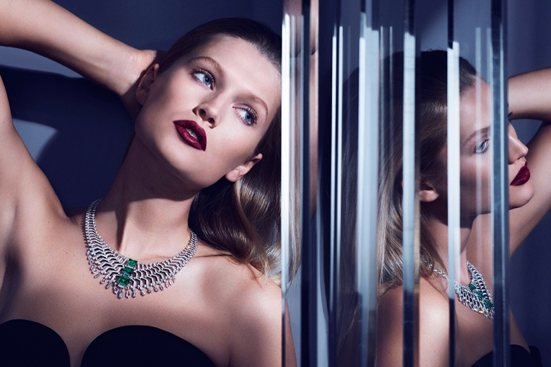 Cartier Magicien Jewellery Campaign featuring Toni Garrn