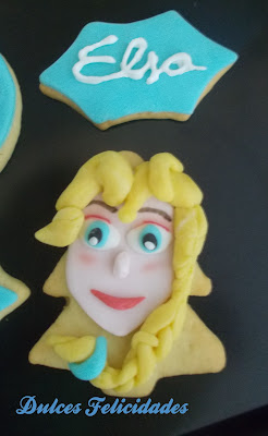 Galletas Elsa Fondant