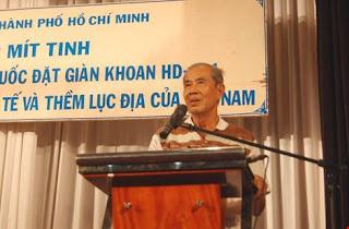 Ông Võ Văn Thôn - người mới tuyên bố xin ra khỏi Đảng