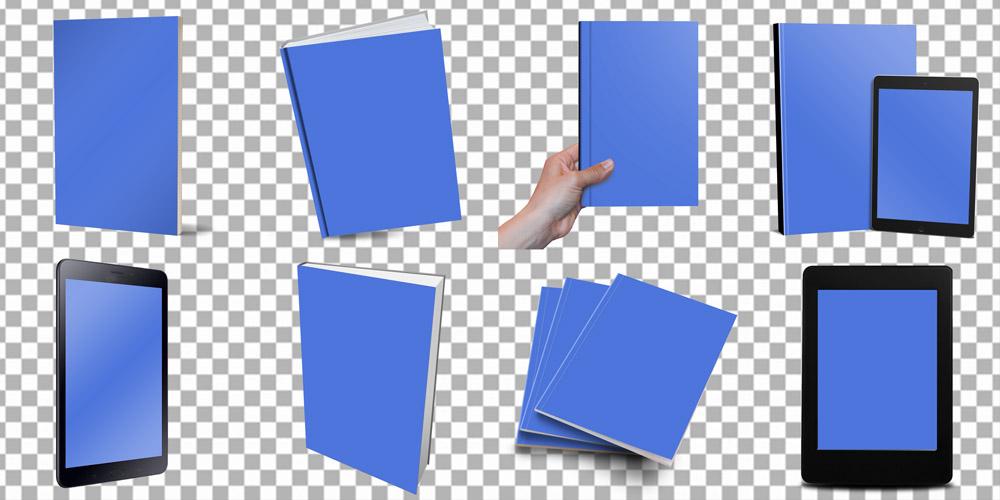 Mockup pro vizualizace knih a e-knih ke stažení