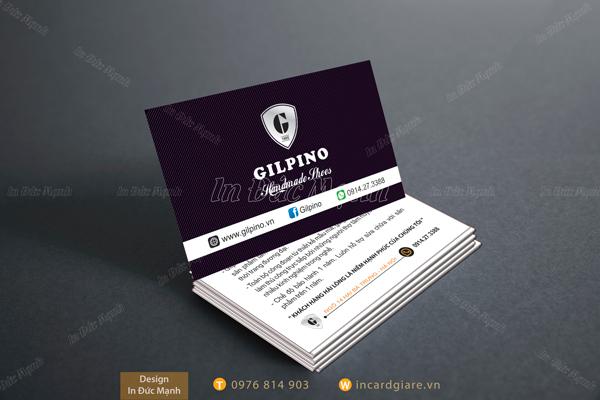 Mẫu card visit công ty GILPINO