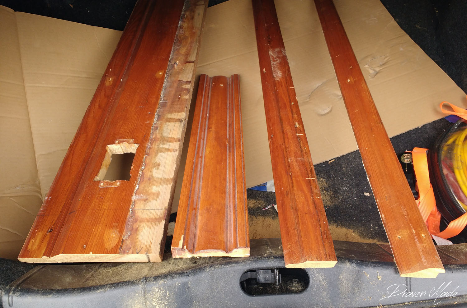 our antique baseboards that needed matching - Master Bedroom Renovation Challenge: [Stage 9] Matching Antique