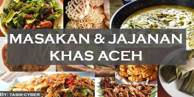 masakan dan jajanan khas Aceh Indonesia