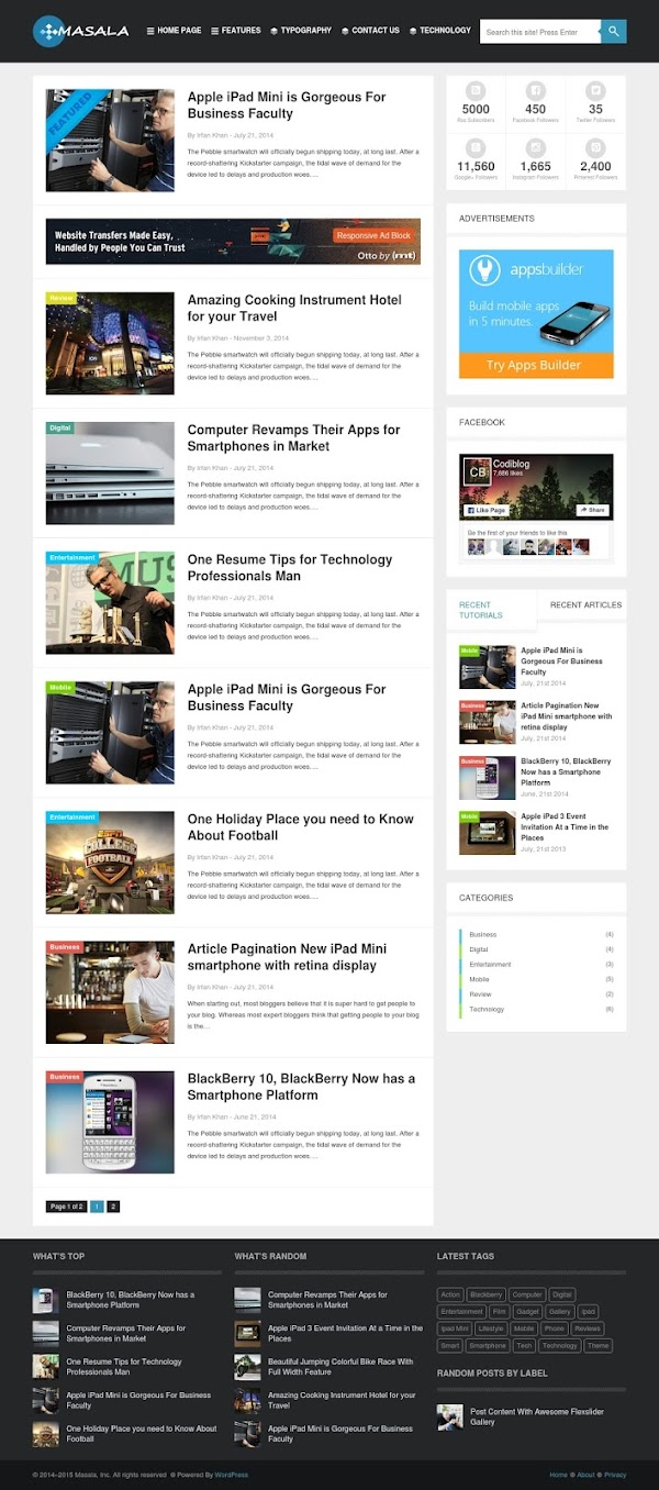 Masala WordPress Theme