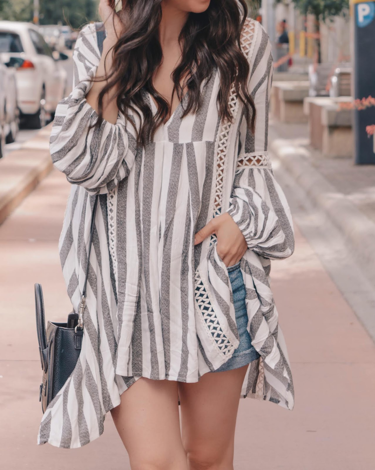 Summer Tunic and Levis shorts