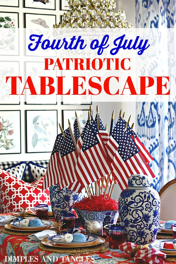 Red White And Blue Festive Fourth Of July Tablescape Dimples And