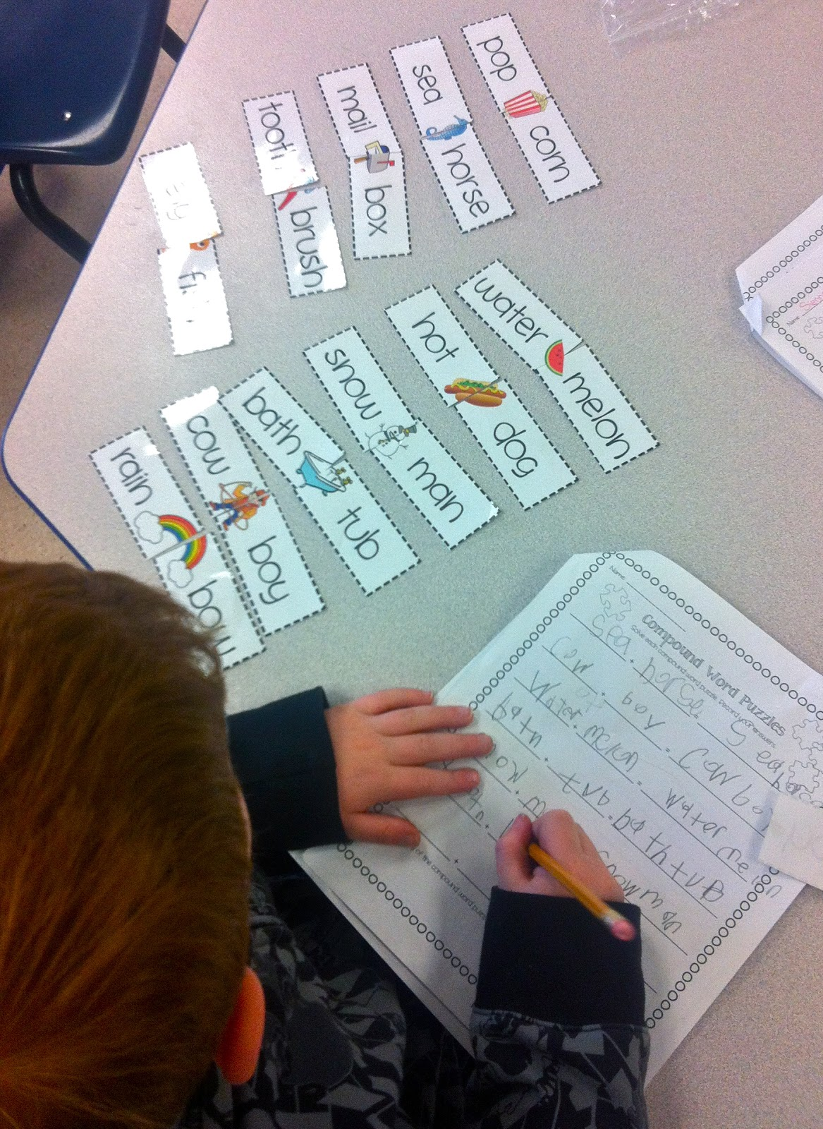 Fun With Firsties Compound Words Descriptive Writing