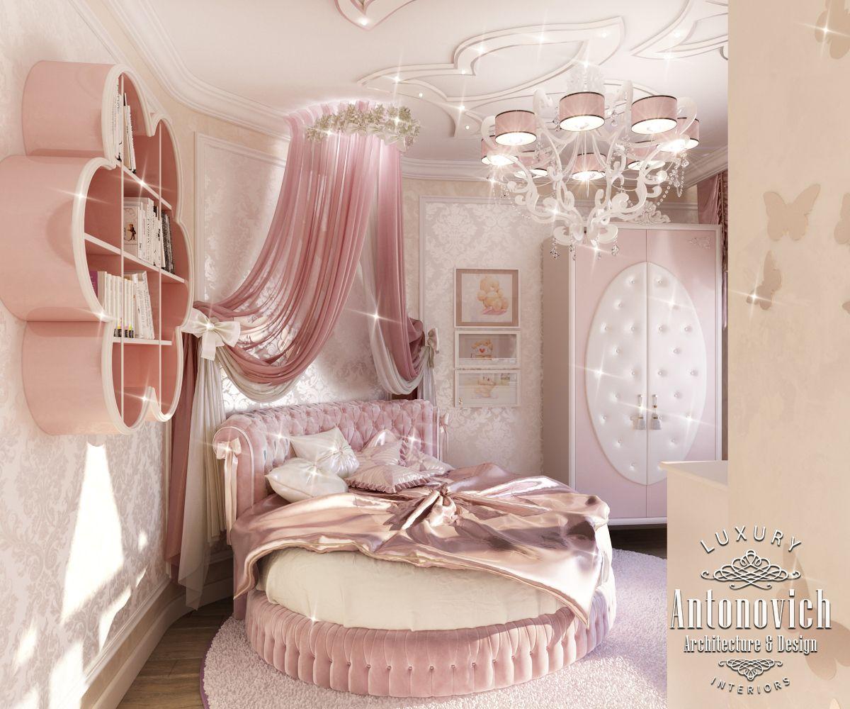 Pink Girly Bedroom Accessories: LUXURY ANTONOVICH DESIGN UAE: Pink Girly Bedroom Dubai
