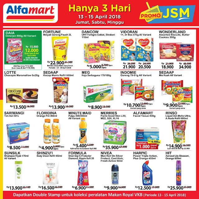Harga Promo ALFAMART JSM Akhir Pekan 13 - 15 April 2018