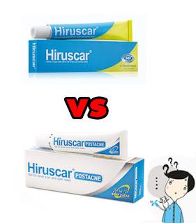 Hiruscar หลอดสีฟ้าขาว (Hiruscar postacne) กับ Hiruscar หลอดสีฟ้าเหลือง (แบบธรรมดา) ต่างกันยังไง