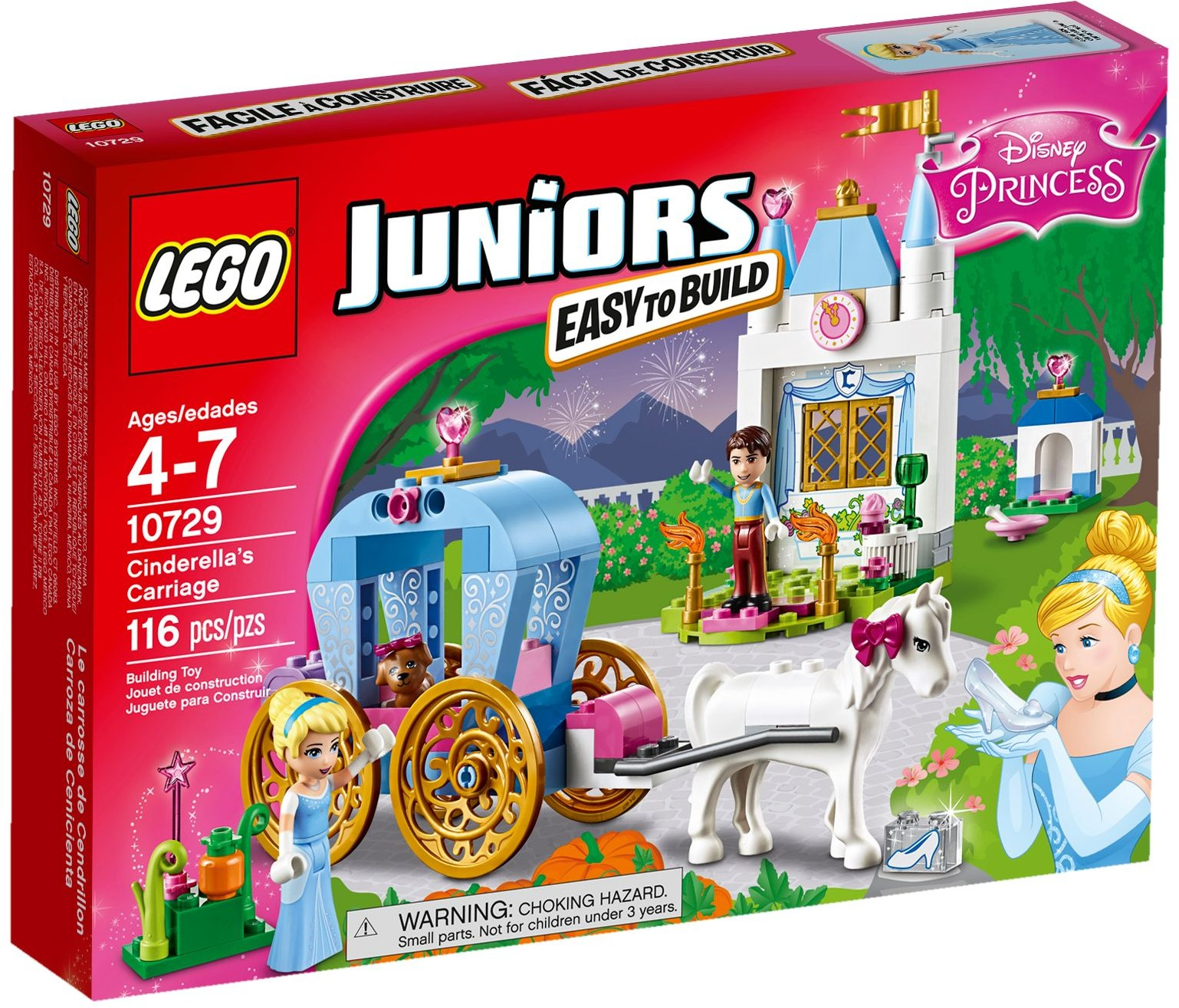 Lego 10720 Juniors Police Helicopter Chase 10729 Cinderellas Carriage