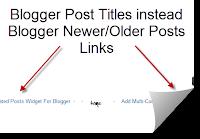 Blogger Post Titles