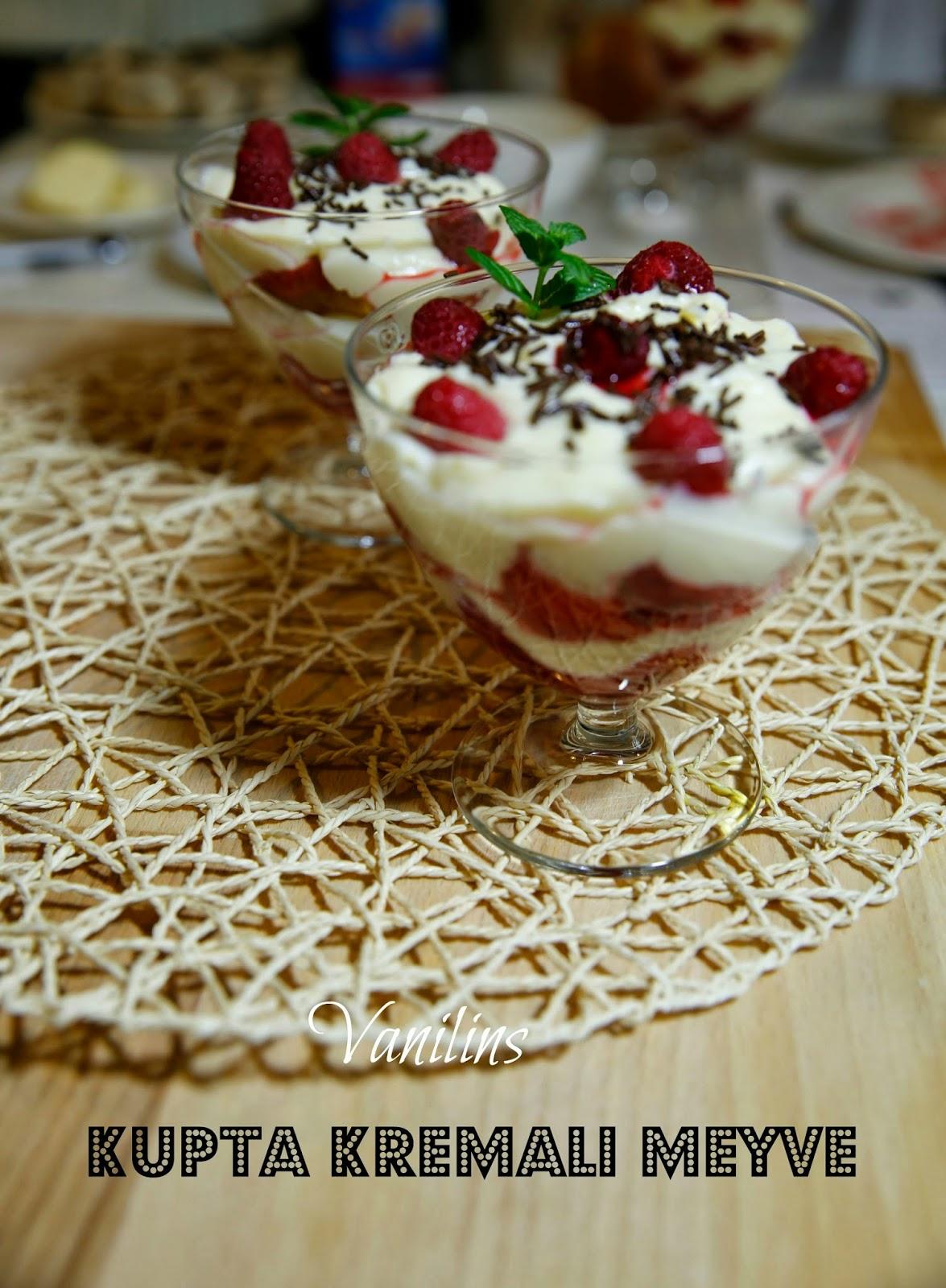 Taze Meyveli Dondurmalı Güllaç
