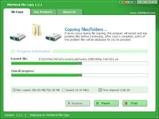 تنزيل برنامج تسريع النسخ ويندوز 10 WinMend File Copy