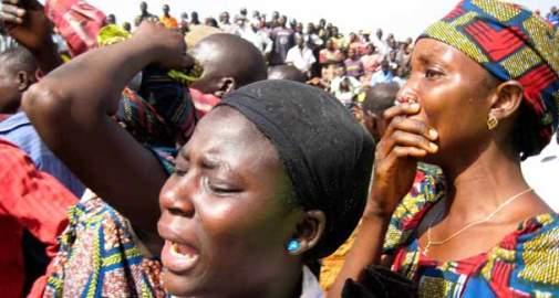 Women weeping