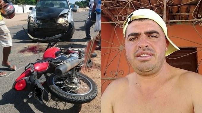 Acidente grave envolvendo moto e carro deixa homem ferido em Serrolândia