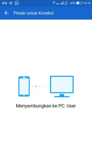 Menghubungkan shareit dari PC ke android