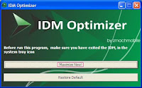 Download IDM Optimizer Speed Booster 2017 to Optimize D/L Speed