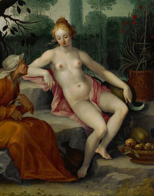 Abraham Cornelisz Bloemaert: Vertumno e Pomona (dettaglio)