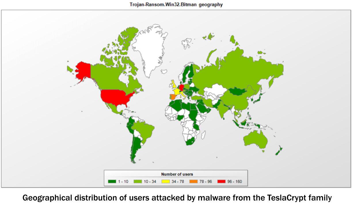 TeslaCrypt Map