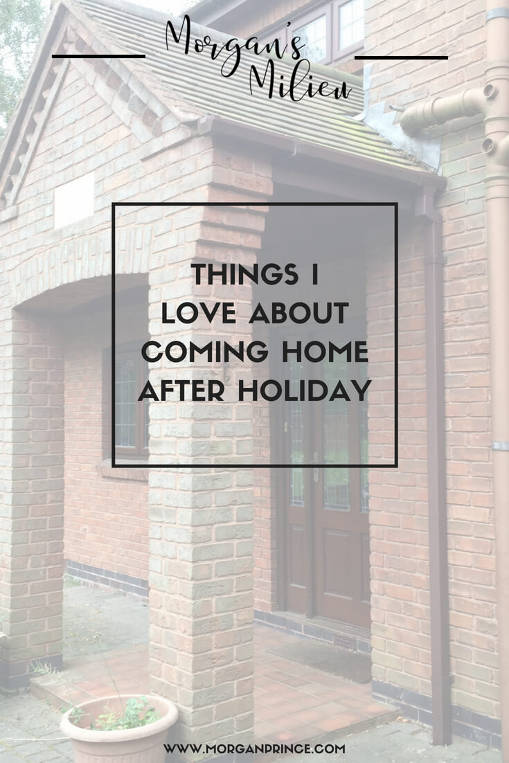 Things I love about coming home after a holiday in Walt Disney World.