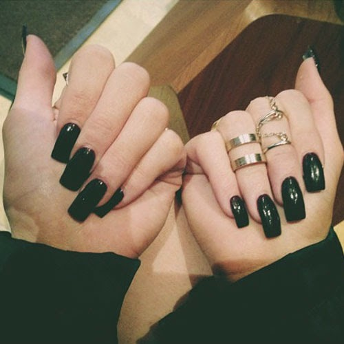 black square acrylic nails - photo #22