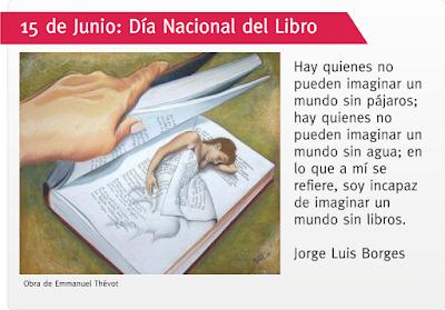 Frase de Jorge Luis Borges sobre los libros y obra de Emmanuel Thevot