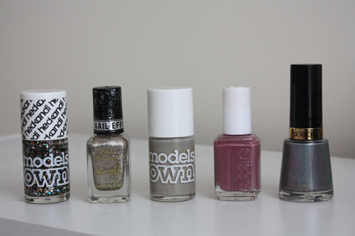 five favourite autumn (fall) winter transition nail polishes; Models Own 'Ibiza Mix'; Barry M 'Majesty'; Models Own 'Concrete Mixer'; Essie 'Island Hopping'; Revlon 'Smouldering', swatches and review