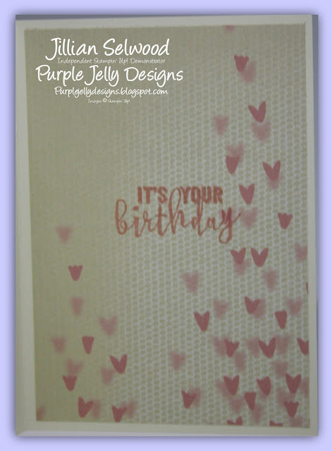Ballong Adventures stamp set, Softly Falling Embossing folder