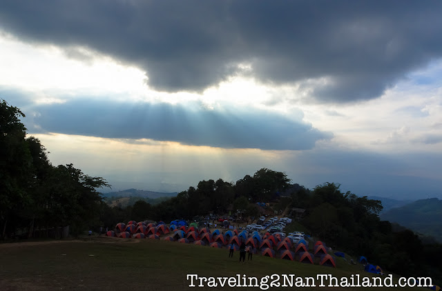 Sunset at Doi Samer Dao at Sri Nan National Park in Nan - Thailand
