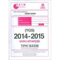 Örnek Akademi YGS 2014-2015 Tıpkı Basım Soru Kitapçığı