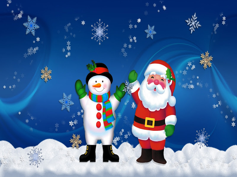 Free Merry Christmas Santa Claus HD Wallpapers for iPad title=