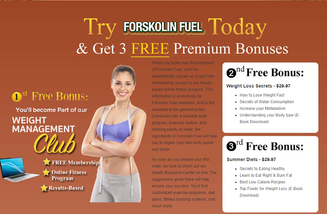 Free Bonus with Forskolin UK
