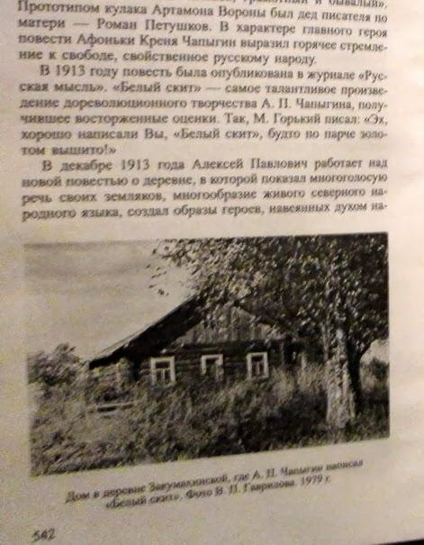 Дом Алексея Чапыгина в Закумихинской