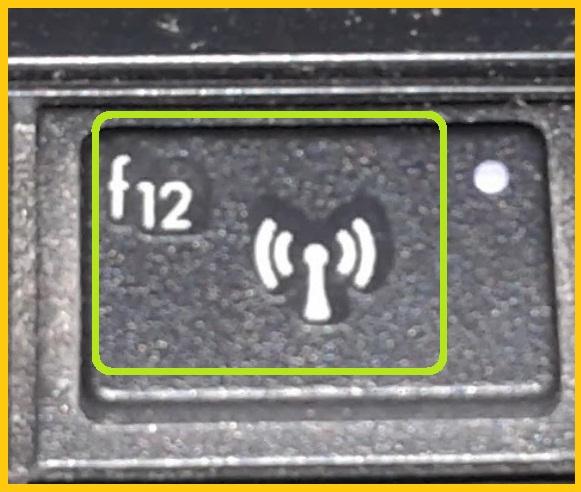 Dengan Menekan Tombol Wifi untuk Mengaktifkan WIFI di Laptop