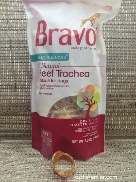 Bravo Pet Foods new Bag-O-Chews Beef Trachea for Dogs