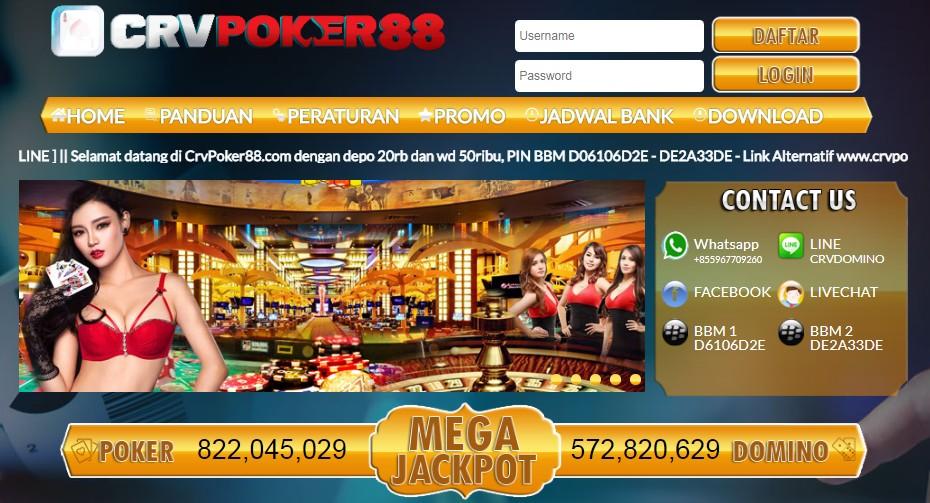 CRVPoker88 - Poker Online, DominoQQ Online, Capsa Online, BandarQ Online, AduQ Online, Bandar Poker dan SAKONG