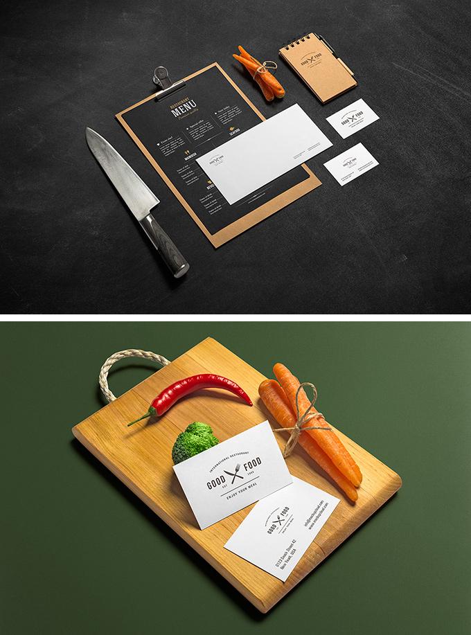 Restaurant Stationery PSD Mockups