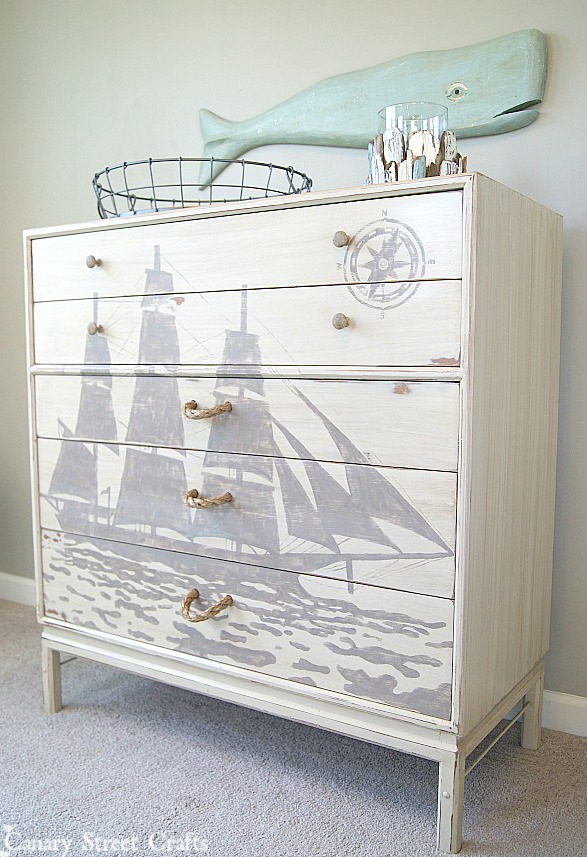 nautical dresser DIY
