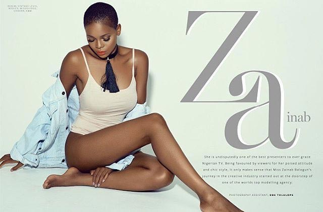 More pictures of Zainab Balogun as she covers Bold Magazine frontpage