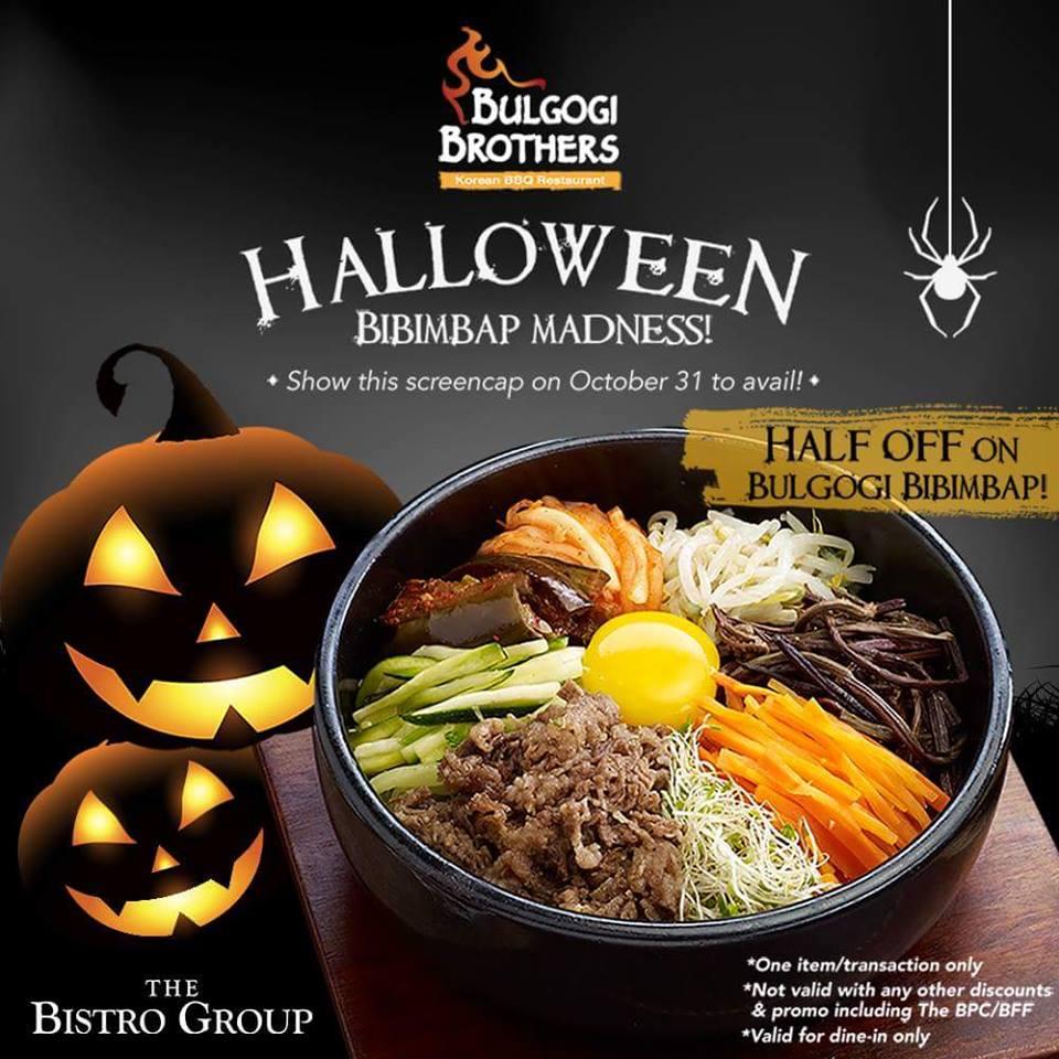 manila shopper: bulgogi brothers halloween bibimbap madness: october